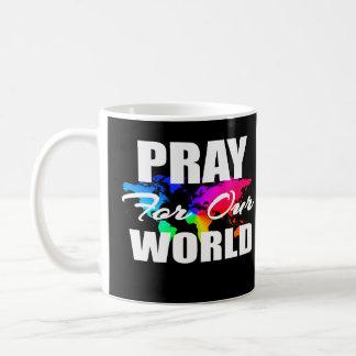 Taza De Café El rezo cristiano del mundo de la fe ruega para