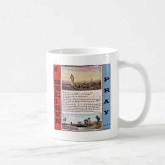 Taza De Café El rezo del salmo 23, el señor es mi pastor
