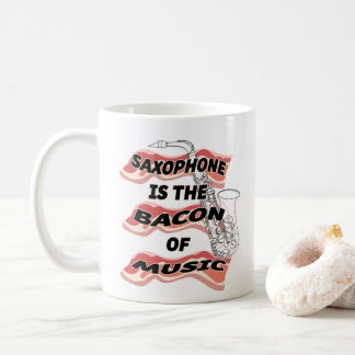 Taza De Café El saxofón es el tocino de la música