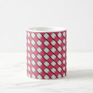 Taza De Café el tejer o textura inconsútil tejida