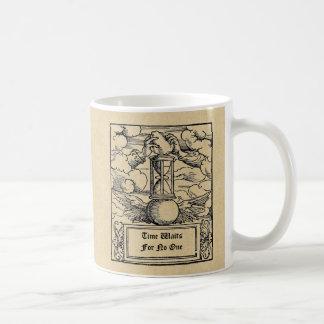 """Taza De Café El """"tiempo espera nadie"""" personalizado"""