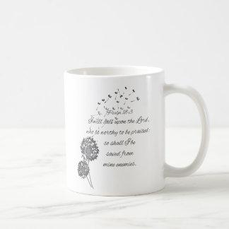 Taza De Café El verso de la biblia del salmo 18 invita al señor