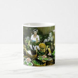 Taza De Café El vintage japonés de la cosecha de la caída del