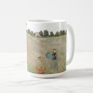 Taza De Café El Wildflower de las amapolas de Monet del