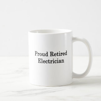 Taza De Café Electricista jubilado orgulloso