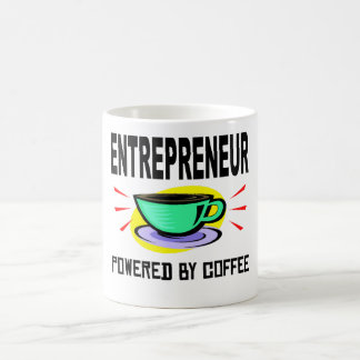 Taza De Café Empresario accionado por el café