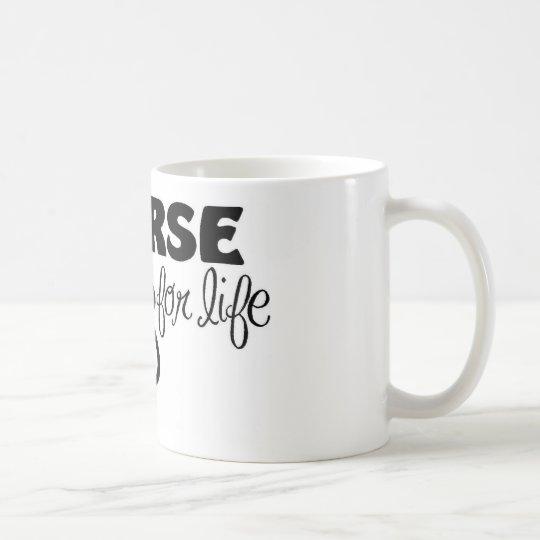 Taza De Café Enfermera para la vida