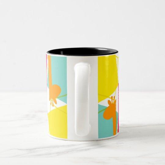 Taza de café enrrollada de la jirafa