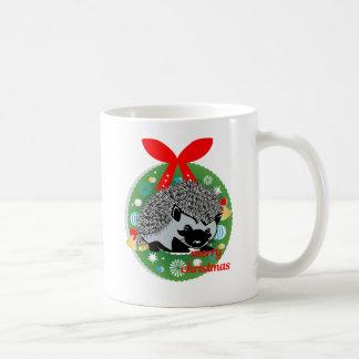 Taza De Café erizo de las Felices Navidad