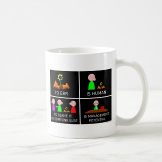 Taza De Café Errar es humano negro