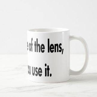 Taza De Café Es cómo usted utiliza la lente