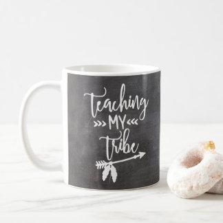 Taza De Café Escritura blanca tribal de la tipografía de la