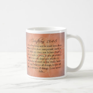 Taza De Café Escritura del amor de la escritura de la biblia en