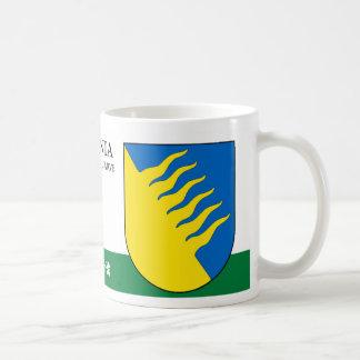 Taza De Café Escudo azul y amarillo de Kohtla Jarve Estonia