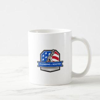 Taza De Café Escudo de la bandera de los E.E.U.U. de la llave