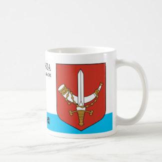 Taza De Café Escudo del caballero del cuerno y de la espada de