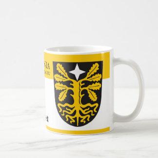Taza De Café Escudo mágico de la planta del árbol raro de