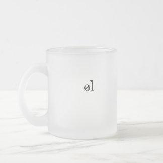 TAZA DE CAFÉ ESMERILADA