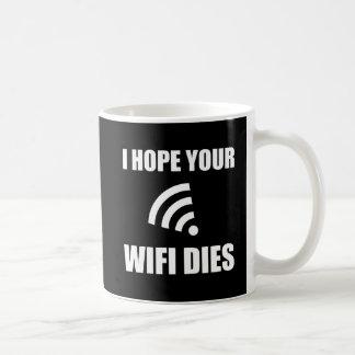 Taza De Café Espere sus dados de Wifi