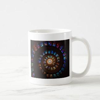 Taza De Café Espiral del vitral