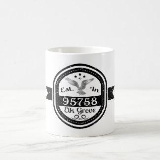 Taza De Café Establecido en arboleda de 95758 alces