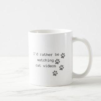 Taza De Café Estaría mirando bastante los vídeos del gato