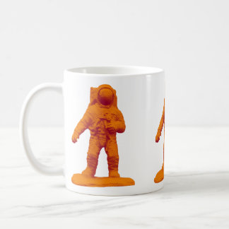 Taza De Café Estatuilla retra del astronauta