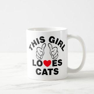 Taza De Café Este chica ama gatos