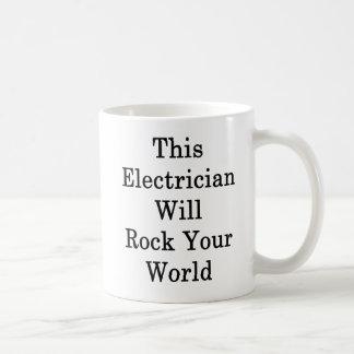 Taza De Café Este electricista oscilará su mundo