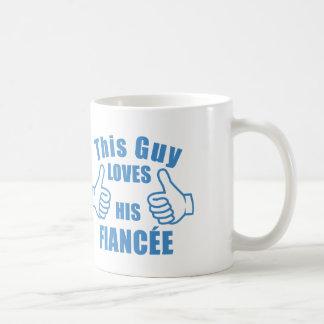 Taza De Café Este individuo ama el GIF de su del fiancée de la