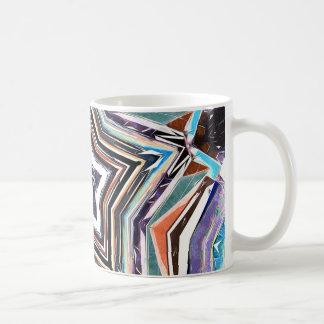 Taza De Café Estrella espectral abstracta