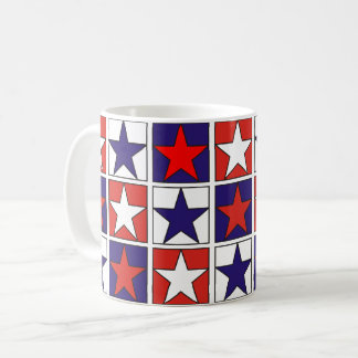 Taza De Café Estrellas tricoloras patrióticas