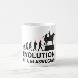 Taza De Café Evolución de una camiseta de Glaswegian (Glasgow)