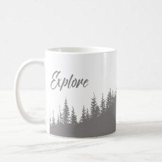 Taza De Café Explore el bonito del bosque