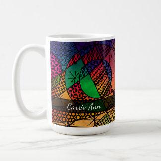 Taza De Café Extracto colorido con texturas, los modelos y