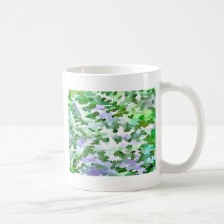 Taza De Café Extracto del follaje en verde y color de malva