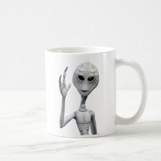 Taza De Café Extranjero gris amistoso