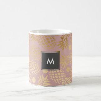 Taza De Café falsos lunares elegantes del modelo de la piña del