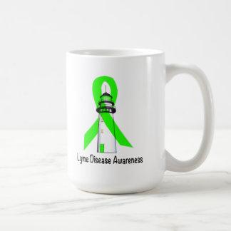 Taza De Café Faro de la enfermedad de Lyme de la esperanza