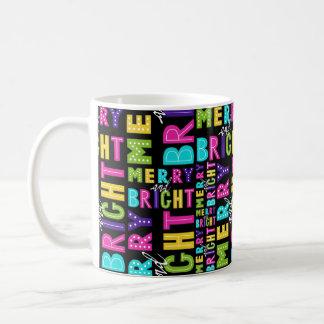 Taza De Café Feliz y brillante de neón