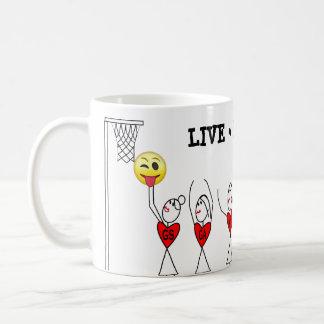 Taza De Café Figura Netball del palillo de la diversión de los