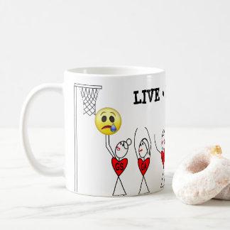 Taza De Café Figura Netball divertido del palillo de los