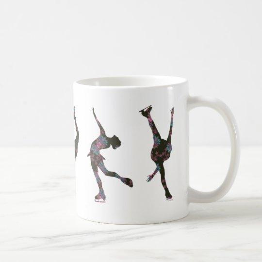 Taza De Café Figura patinadores, rosa, modelo gris
