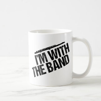 Taza De Café Flauta divertida estoy con la banda