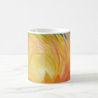 Taza De Café Flor de Lotus abstracta