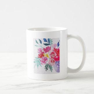 Taza De Café Flores de la acuarela