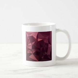 Taza De Café Fondo bajo abstracto rojo del polígono de la