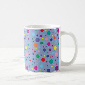 Taza De Café Fondo Clr de la polca Dots|Serenity