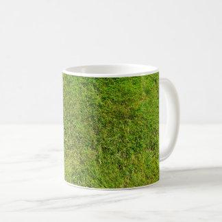 Taza De Café Fondo de la textura del modelo de la hierba verde