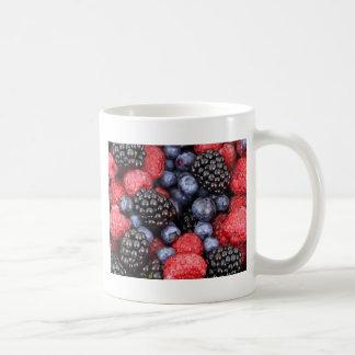 Taza De Café fondo de las bayas